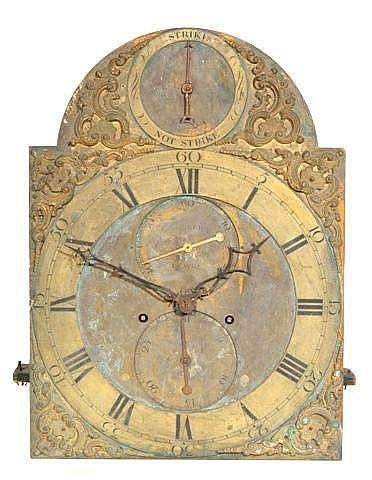 A Richard Comber clock dial showing his unusually refined style - from invaluable.com
