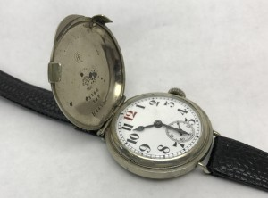 Early wristwatch - full hunter